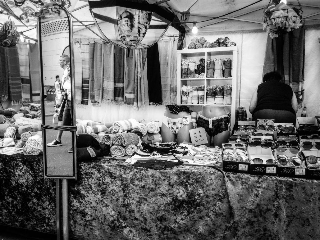 Woman selling stuff